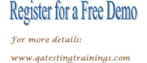 QA Testing Tools Online Training Classes in UK,USA,Canada,Australia-Free Demo