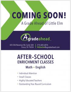 A Grade Ahead in your neighborhood (FRISCO/LITTLE ELM)