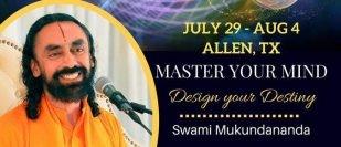 Free Yoga, Meditation, Enlightening Talks and Workshop by Swami Mukundanada