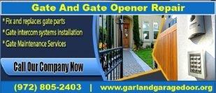 Get One of the Best Gate & Gate Opener Repair Garland, TX | Starting $26.95