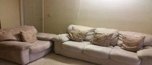 Sofa Set with 4 IKEA Cushions - immidiate sale