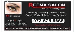 REENA SALON Is Now Open In Garland